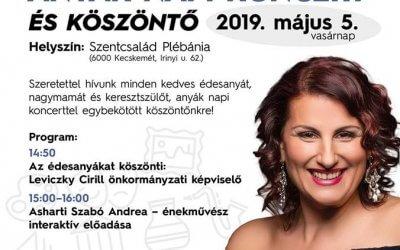 Anyák napi koncert – Kecskemét Szentcsalád Plébánia  május 05.