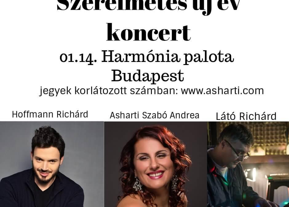 Szerelmetes Újévi koncert – január 14. 19.00 (Budapest – Harmónia Palota)